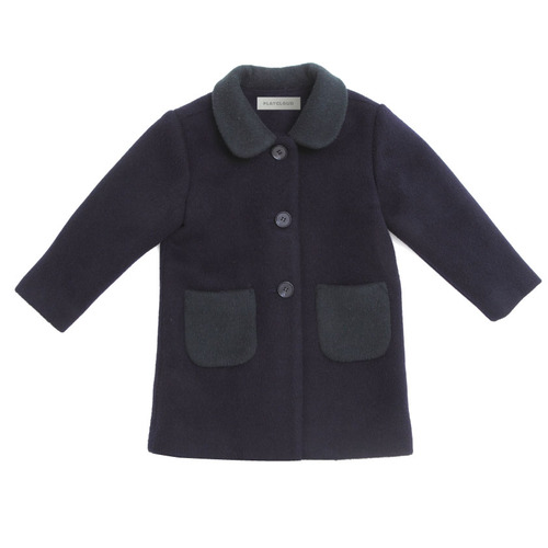 hand made coat (navy) pre-order - 플레이클라우드